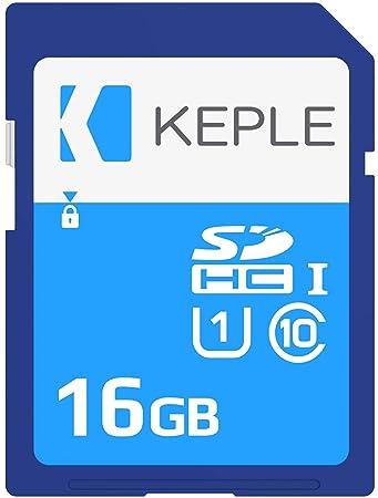 Keple 16GB Tarjeta de Memoria SD Card | SD Memory Card Compatible con Sony Alpha a6000, 7s, a5100, 7 II, 7R II, NEX-F3, NEX-5R DSLR Camara | 16 GB ...