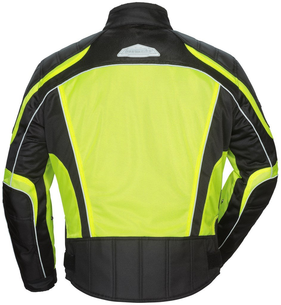 Tour Master Intake Air Series 4 Women's Textile Sports Bike Racing Motorcycle Jacket - Hi-Viz Yellow/Black / Small by Tourmaster (Image #2)