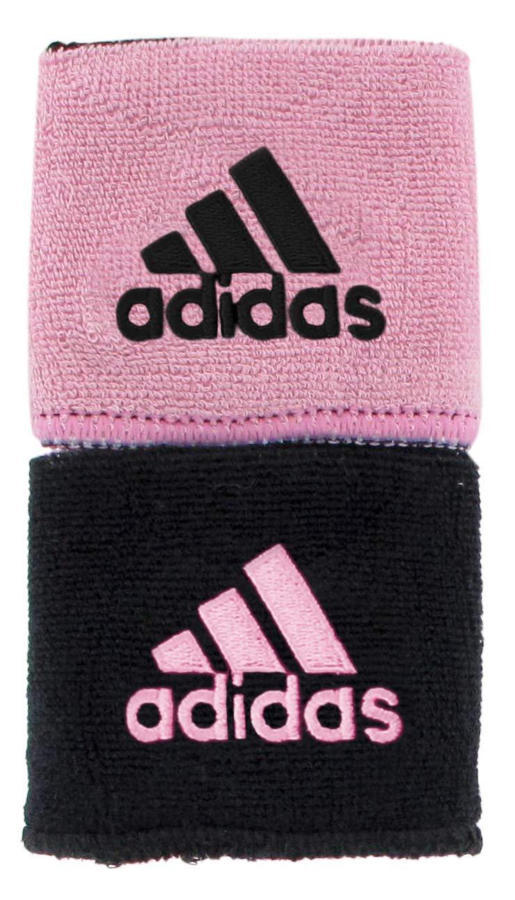 adidas Unisex Interval Reversible Wristband, Black/Gala Pink Gala Pink/Black, ONE SIZE by adidas