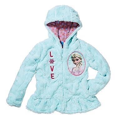 0d58ab6fe Amazon.com  Disney Princess Little Girls  Zip-Up Fleece Jacket with ...