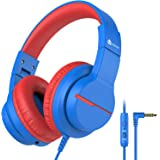 iClever HS19 Kids Headphones with Microphone for School, Volume Limiter 85/94dB, Over-Ear Girls Boys Headphones for Kids with