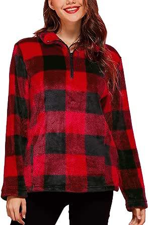 Clarisbelle Women's Long Sleeve Half Zip Fleece Tie Dye Pullover Sweatshirt
