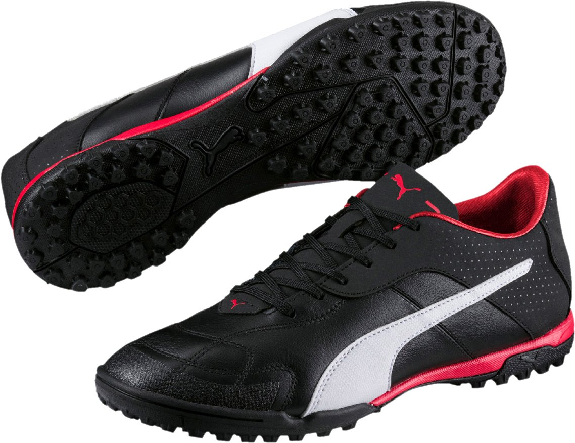 7a5ac46bc0e5d4 Only Sports Gear Puma Esito CC TT Astro Turf Mens Football Trainers Boots  Black White Red  Amazon.co.uk  Sports   Outdoors