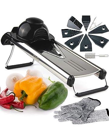 Mandolina de Cocina de Chefs INSPIRATIONS. Incluye 6 insertos, cepillo de limpieza y cubierta