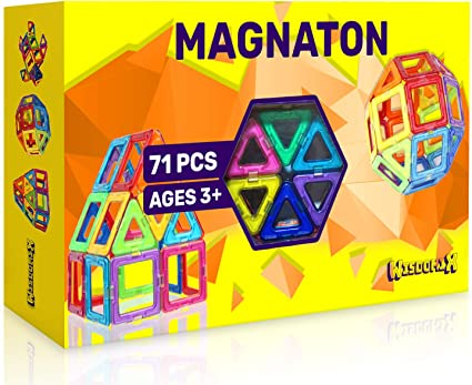 71PCS Magical Magnetic Construction Building Blocks Kids Boys Girls Toy Gift US