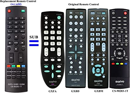 Easy Repalcement Remote Conrtrol For SANYO GXBG DP50747 DP52848 DP26640 LCD LED Plasma HDTV