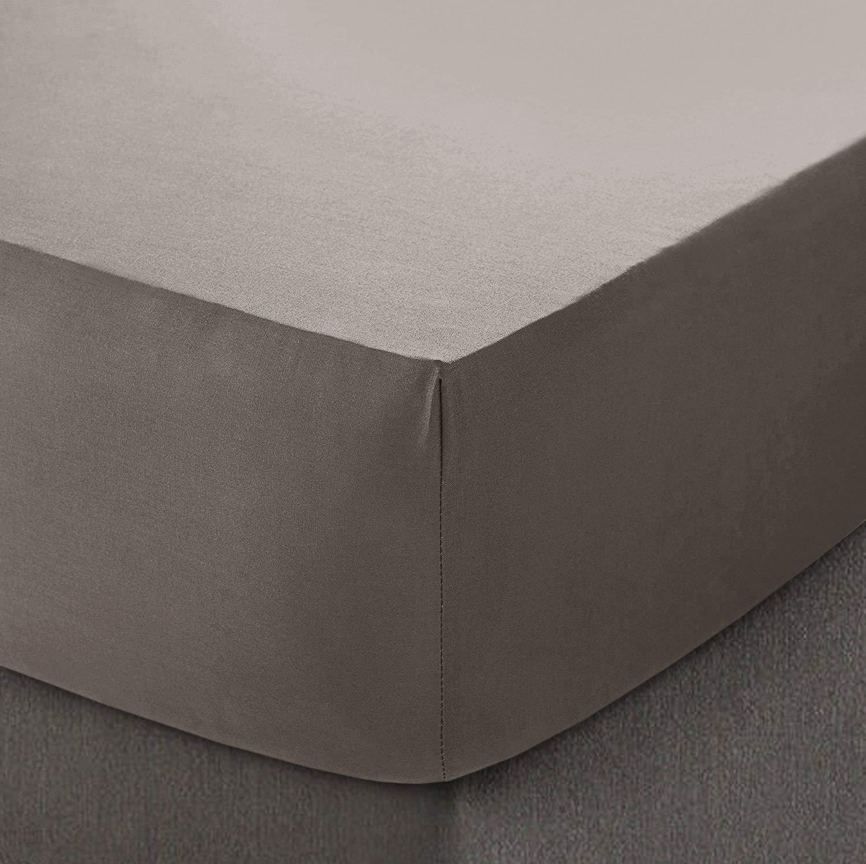 Dreamz Choice in Cotone Egiziano 200Fili 40cm/16Extra Profonda Lenzuolo, Grey, Doppio