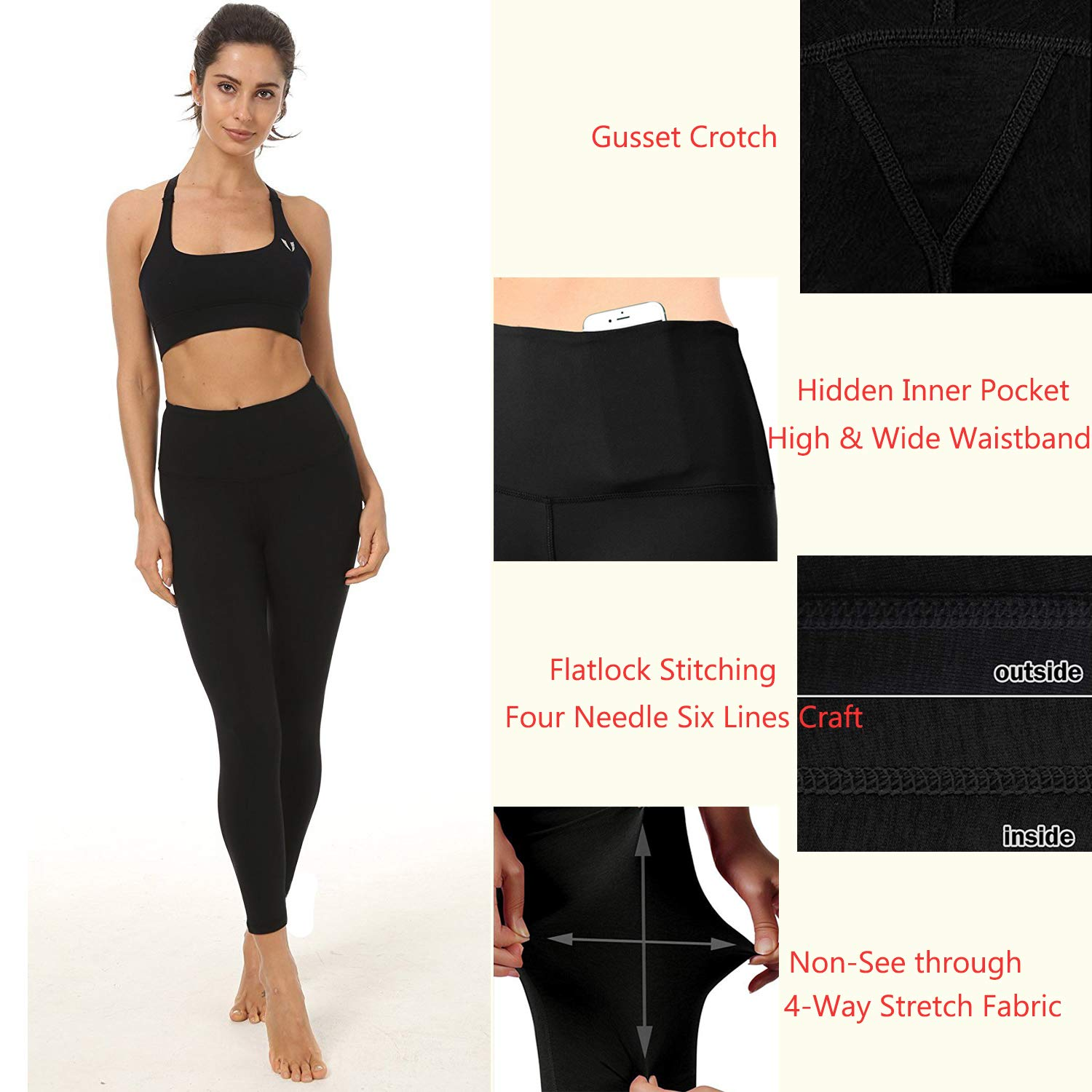6cb5f6906c8e62 FIRM ABS Women's Fitness Leggings Workout Ankle-Length Yoga Pants Sportwear  Black XS: Amazon.co.uk: Clothing