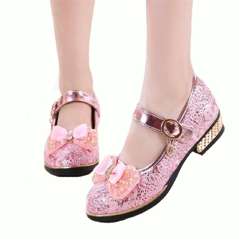 homme / femme de cuir chaussures en cuir de rose - bow charmant les chaussures mode fleuriste mariage les chaussures de princesse pour enfants du magasinage en ligne d'une bonne réputation dans le monde vg9370 excellente fonction a34e75