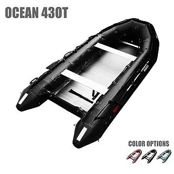 Seamax ocean430t Hinchable Barco de Grado Comercial, 14 pies ...