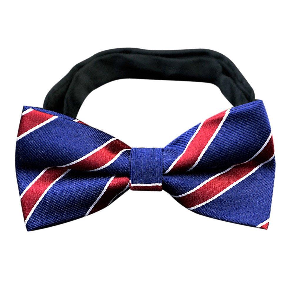Fashion Bowtie Cravat Wedding Commercial Butterfly Bow Ties Cravats Adult Classic Pre-Bowtie (Blue)