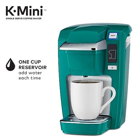 Keurig K15 Sola porción Compacto K-Pod Copa Cafetera, Jade: Amazon ...