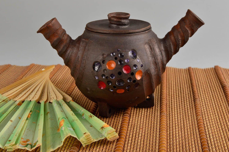 Handmade Ceramic Teapot Small Teapot Pottery Art Ceramic Cookware Kitchen Decor