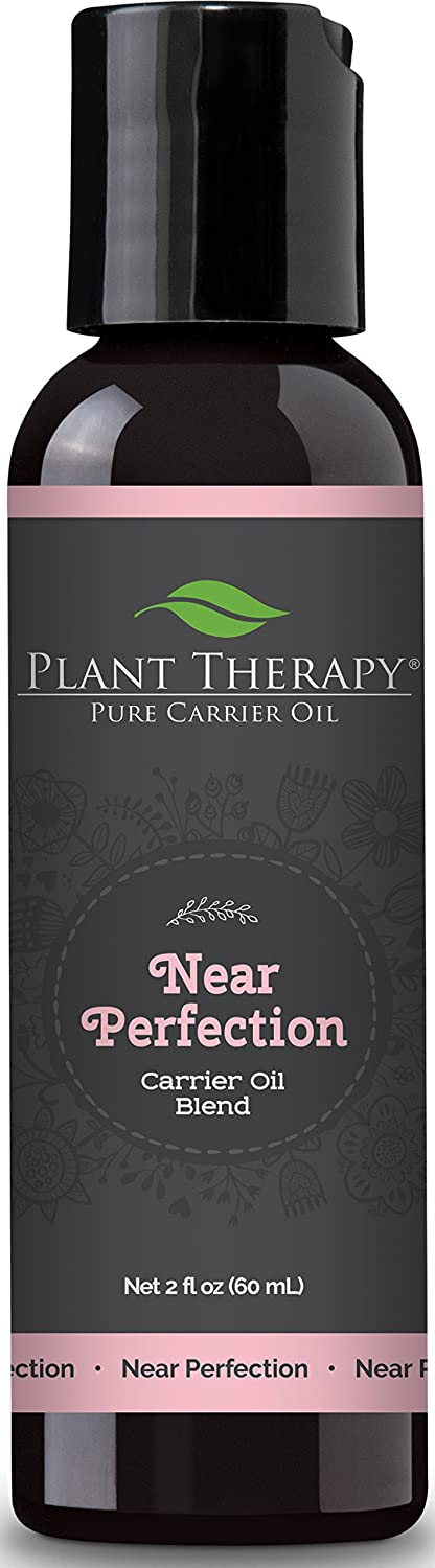 Plant Therapy Near Perfection Carrier Oil Blend 2 oz Base for Essential Oils or Massage (Ideal for Skin Imperfections)