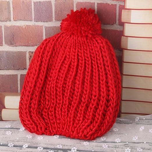 3524d9047046 Longra Bonnets Bébé Chapeau Bébé Casquettes Bébé Bobs Bébé bonnet enfant bonnet  bébé tricot bonnet chaud Naissance Ponpom Bonnet Un bonnet à pompons Bonnet  ...
