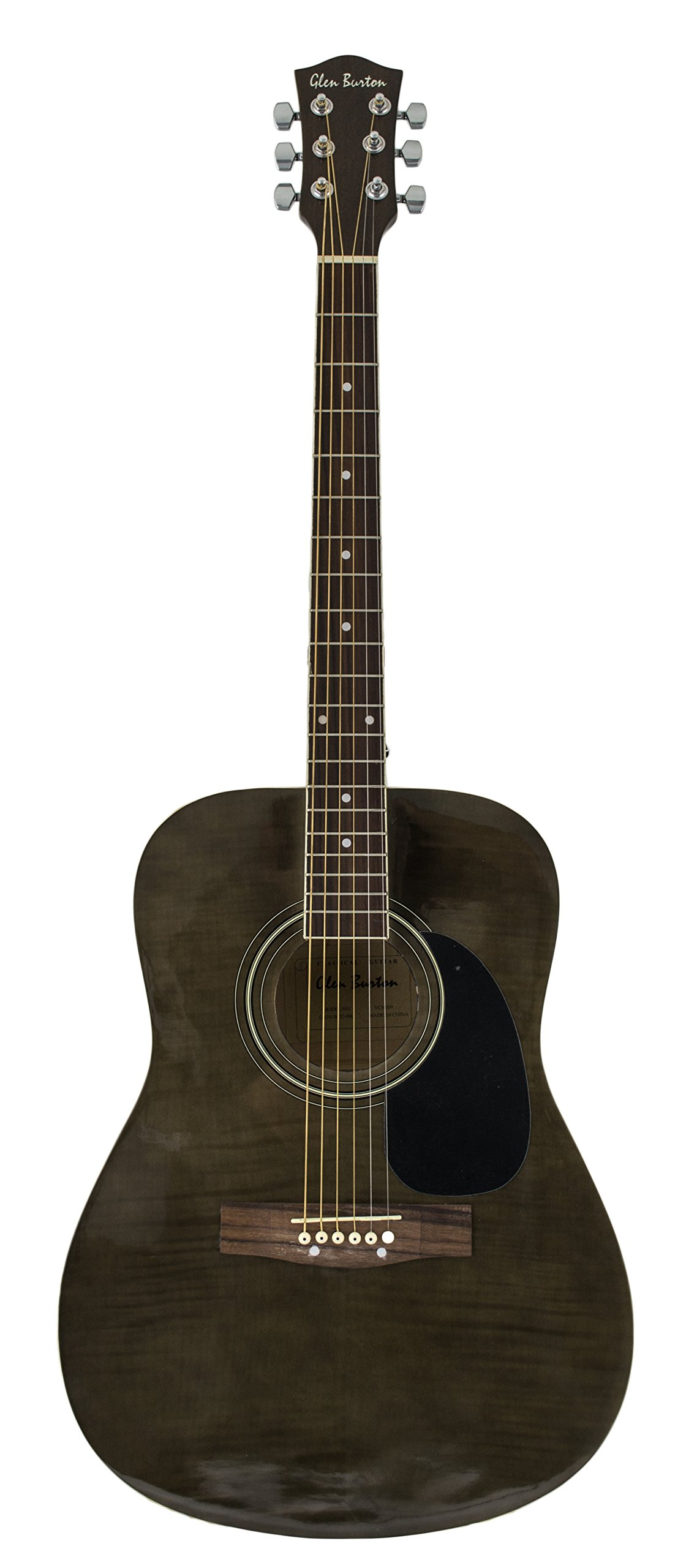 Glen Burton GA101BCO-BK Dreadnaught Acoustic Guitar with Accessories, Black
