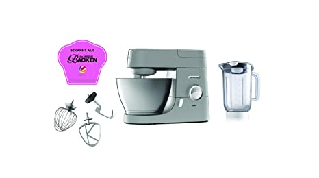 Kenwood KVC3110S Robot de cocina, accesorios de bol, indicador de velocidades, 1000 W, 4.6 litros, Metal, Plata