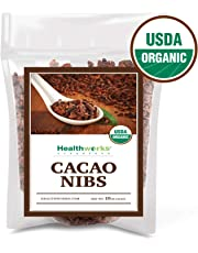 Healthworks USDA Organic Cacao Nibs - 100% Raw, 454g (1lb)