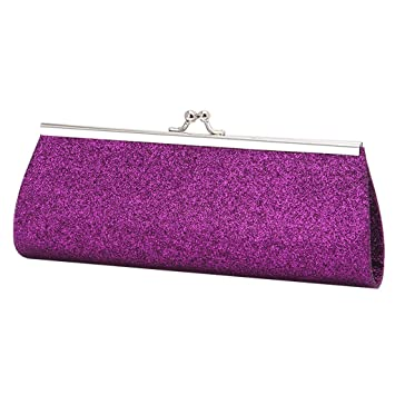 Best-topshop Giltter Handbag for Women Girls, Metal Chain Coin Phone Bag for Wedding