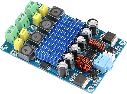 Yeeco Audio Amplifier Board Dual Channel 50W 50W DC 12V-24V Digital Power Amplifier Board 15V 20V Car Audio Stereo AMP Module with Booster Chip and 3.5mm Audio Input for Audio System DIY Speakers