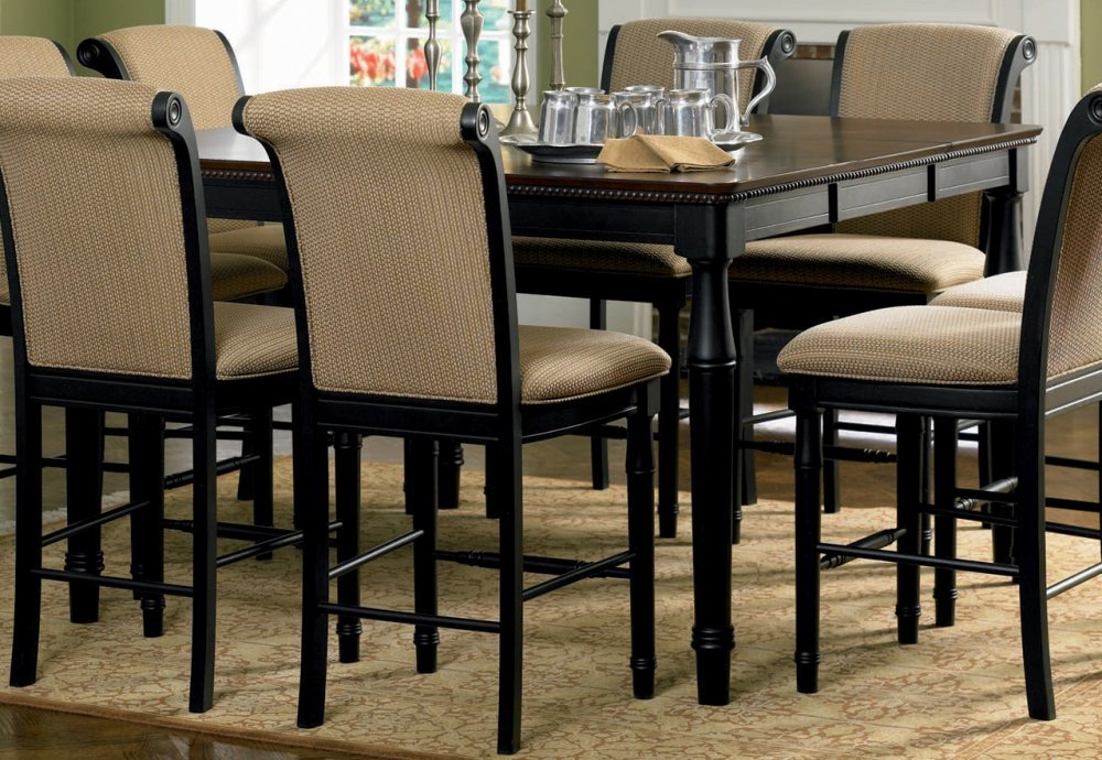 Amazon.com - Coaster Cabrillo Counter Height Two Tone Dining Table Black/amaretto Finish Finish - Tables : counter dining table set - Pezcame.Com