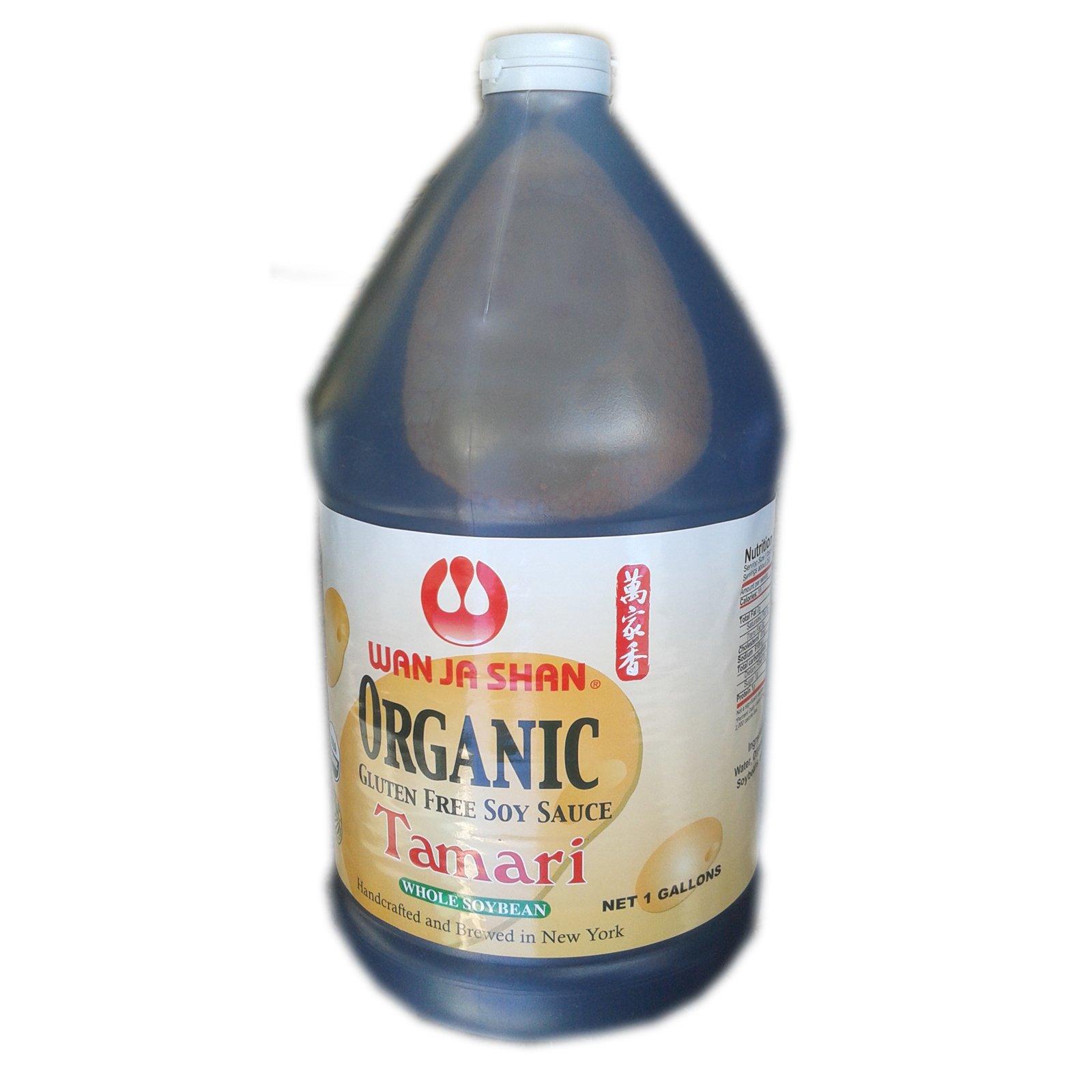 Wan Ja Shan Organic Gluten Free Soy Sauce - Tamari Sauce. 1 Gallon by Wan Ja Shan
