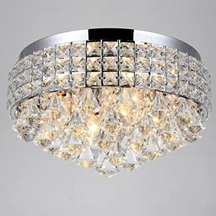 Antonia ornate crystal flush mount chandelier in chrome amazon antonia ornate crystal flush mount chandelier in chrome aloadofball Image collections