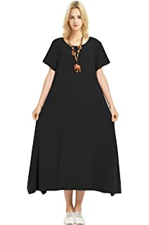 7fbf33bce30 Anysize Linen Cotton Soft Loose Spring Summer Dress Plus Size Clothing F126A