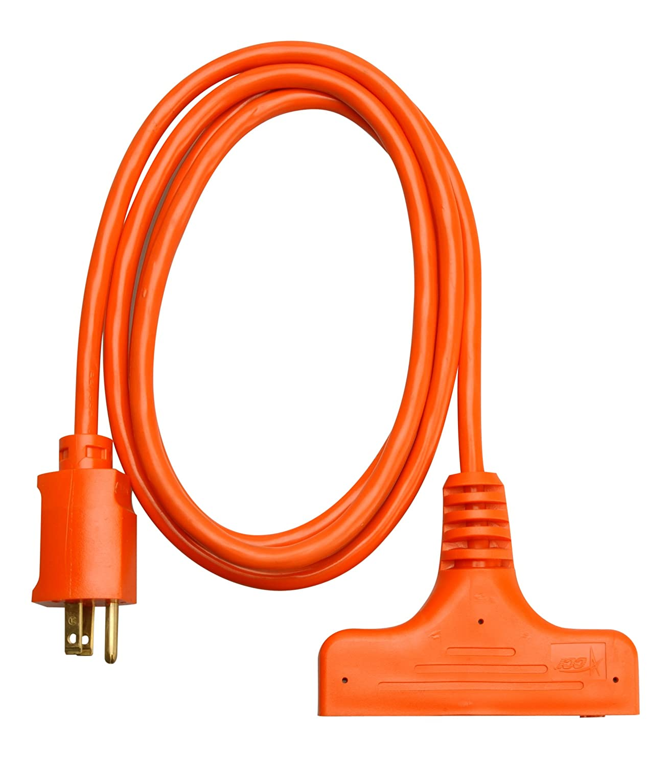 Coleman Cable 04004 14/3-Wire Gauge SJTW Tri-Source Extension Cord ...