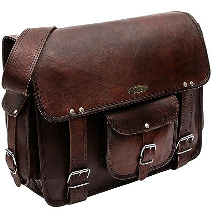 c78b781c61dc Handmade World Rugged Vintage Laptop Messenger Bag for Men - Men s Leather  Messenger Bag - Genuine Handcrafted