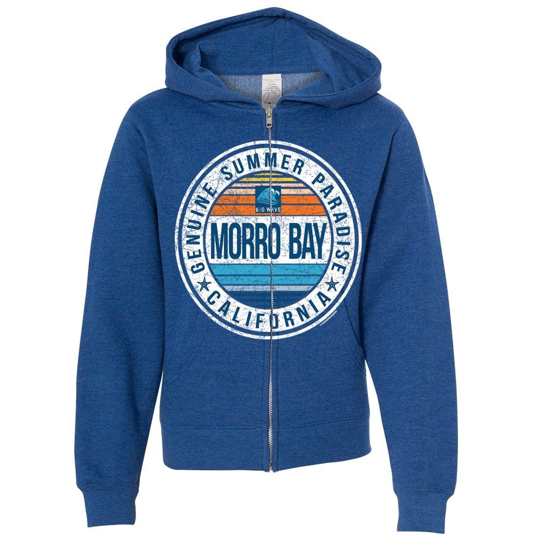 Dolphin Shirt Co Genuine Summer Paradise Premium Youth Zip-up Hoodie - Royal Heather Medium