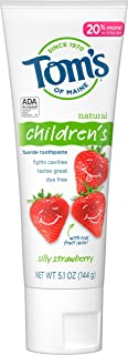 product image for Tom's of Maine, Anticavity Fluoride Children's Toothpaste - Silly Strawberry, 5.1 Ounce