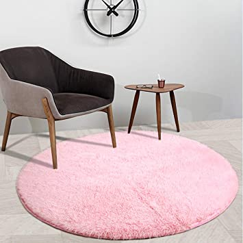 YOH Super Soft Round 4x4 Feet Area Rugs For Bedroom Kids Rooms Living Room  Playroom Fluffy
