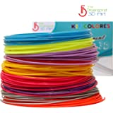 650+ Linear ft 3D Printing Pen Filament Refill Pack 1.75 mm PLA Plastic 20 Different Color Wire Includes Glow in the Dark and FREE 3D & 2D Template eBook