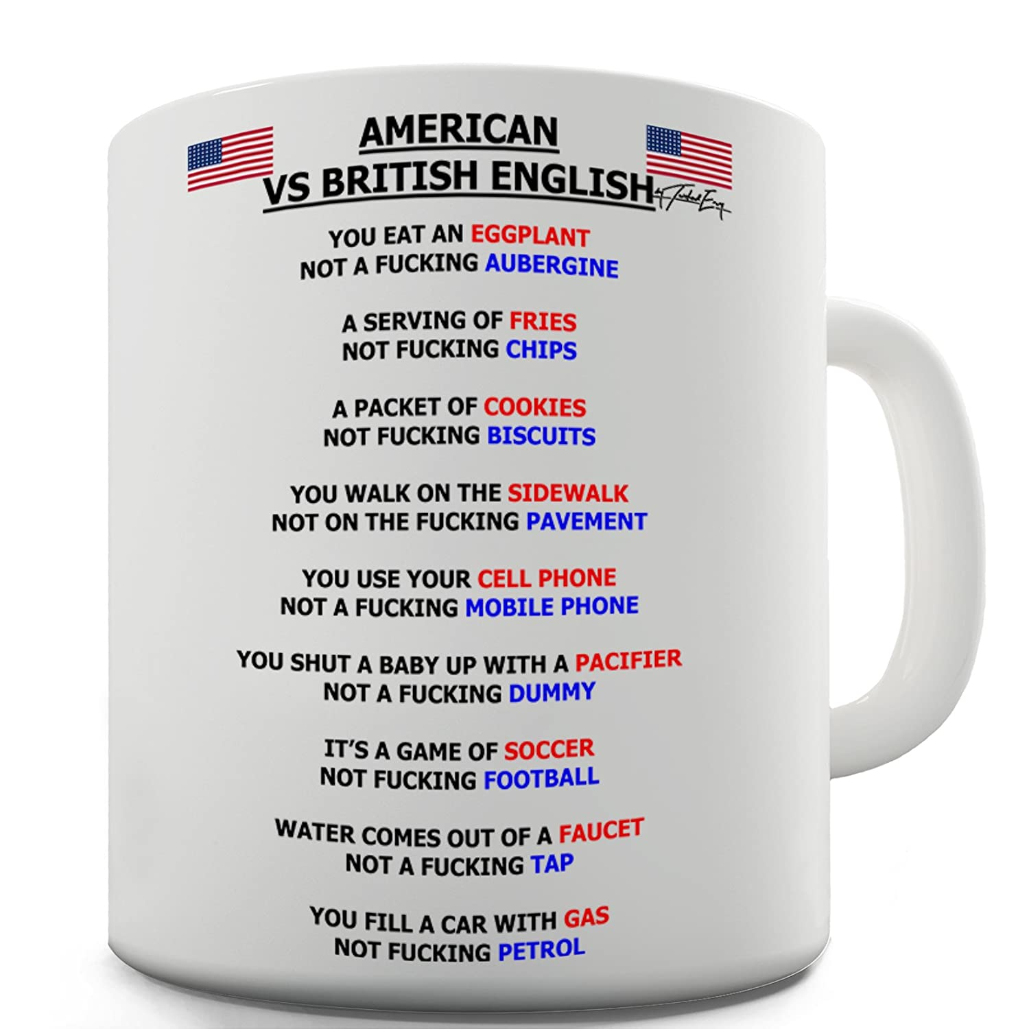 Amazon.com: Twisted Envy American vs British English Grammar Funny ...