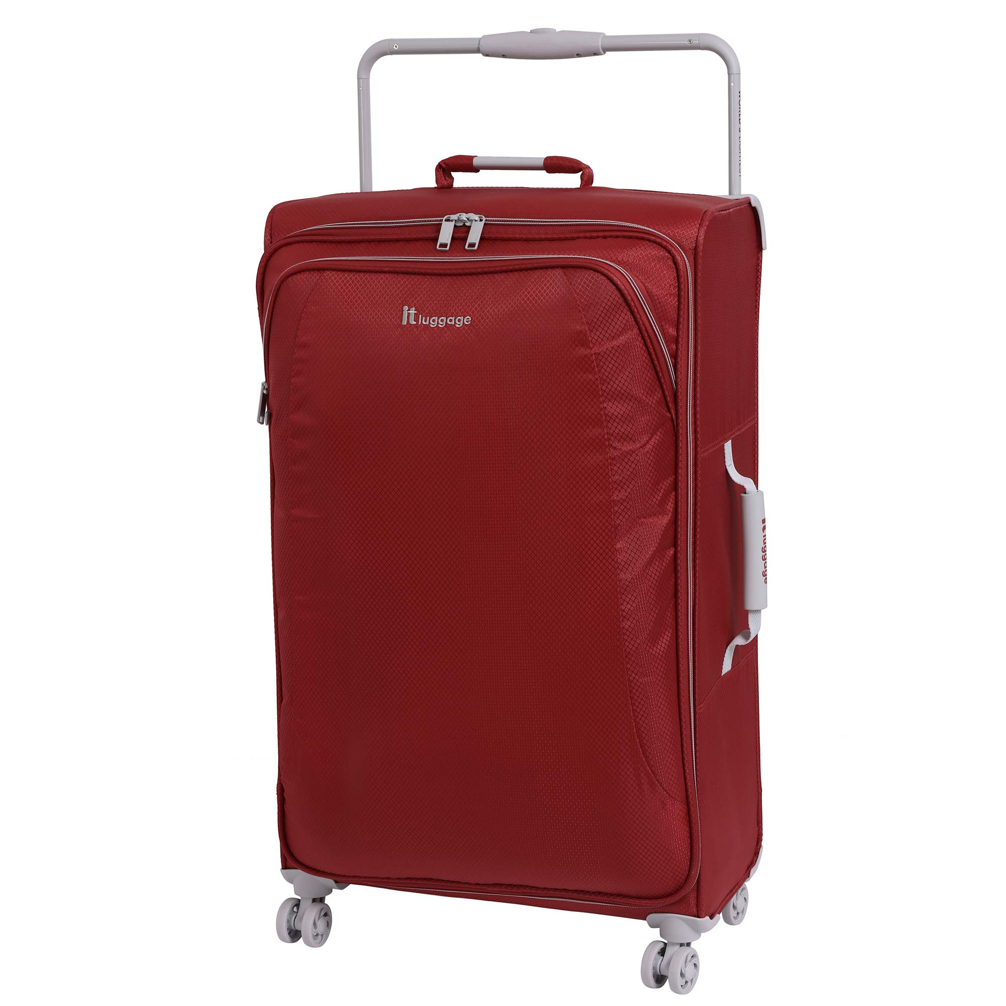 IT Luggage 31.5'' World's Lightest 8 Wheel Spinner, Bossa Nova With Vapor Blue Trim