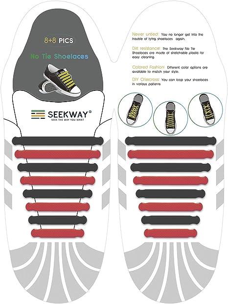 seekway no tie cordones – Convierte cualquier zapatillas en un ...