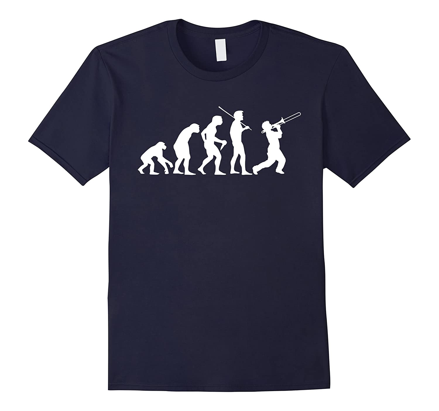 Evolve to Trombone Funny Jazz Musician T-Shirt-CL
