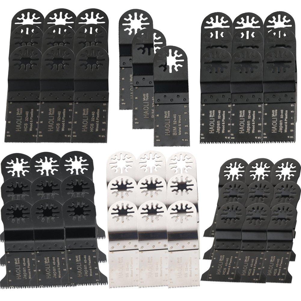 HAOLI Oscillating Tool Saw Blades For Fein Multimaster,Dremel,Bosch Makita,Einhell,Skil (Not valid for Bosch star lock) (HL48-4)