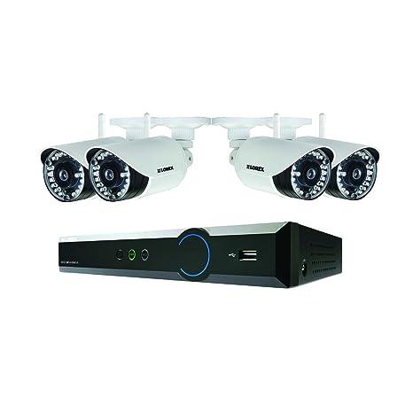 Lorex LH04141TC4WP - Sistema de cámaras de Seguridad inalámbricas Impermeables (720p) Color Negro y