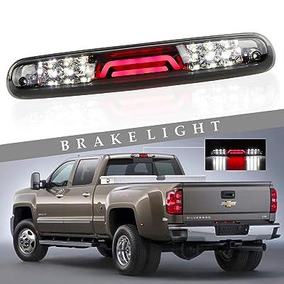 (Smoke) for 2007-2013 Chevy Chevrolet Silverado/GMC Sierra 3D LED Bar 3rd Third Tail Brake Light Rear Cargo Lamp High Mount Stop light Chrome Housing: Automotive [5Bkhe1506031]