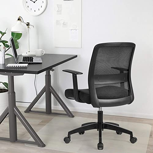 Office Mid Back Mesh Chair Ergonomic Swivel Lumbar Support Desk Computer Chair Mesh Low-Back Computer Desk Task Chair Office Chair