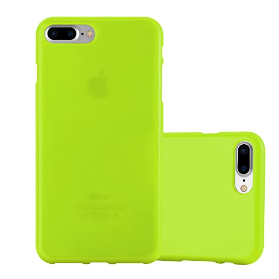 best website 70e90 c9e9a Cadorabo Case Works with Apple iPhone 8 Plus/iPhone 7 Plus/iPhone 7S Plus  in Jelly Green – Shockproof and Scratch Resistant TPU Silicone Cover – ...