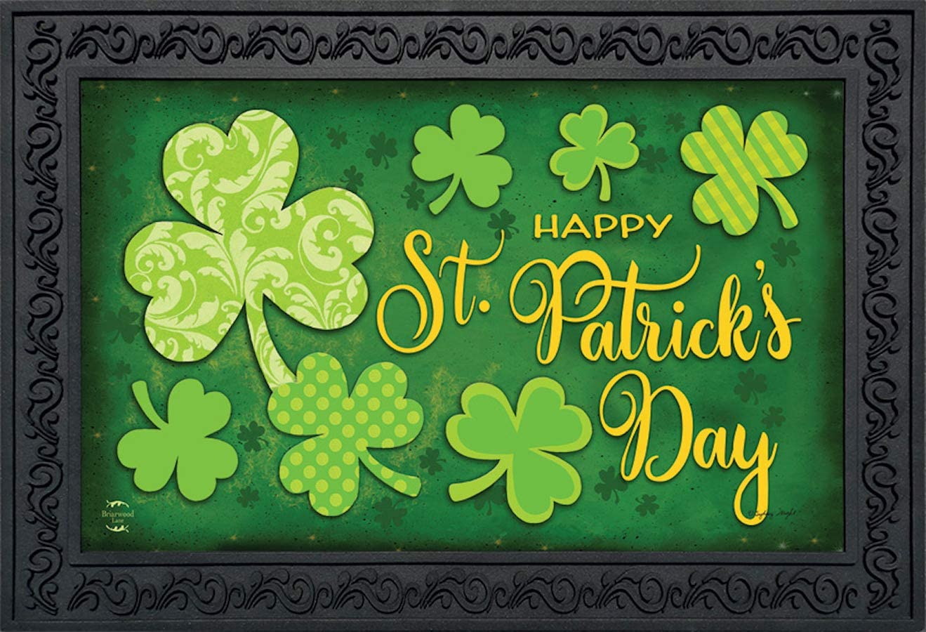 Briarwood Lane Lucky Shamrocks St. Patrick s Day Doormat Clovers Indoor Outdoor 18 x 30