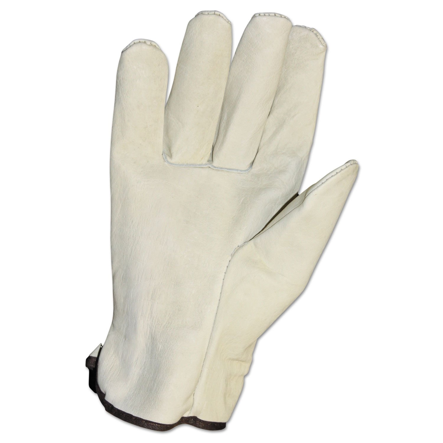 Unlined Grain-Leather Drivers' Gloves, Large, Cream, Dozen by Impact