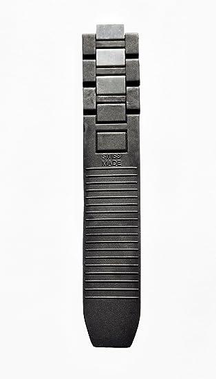Goma + acero reloj correa Band Negro para Cartier debe 21 Chronoscaph Autoscaph largo parte: Amazon.es: Relojes