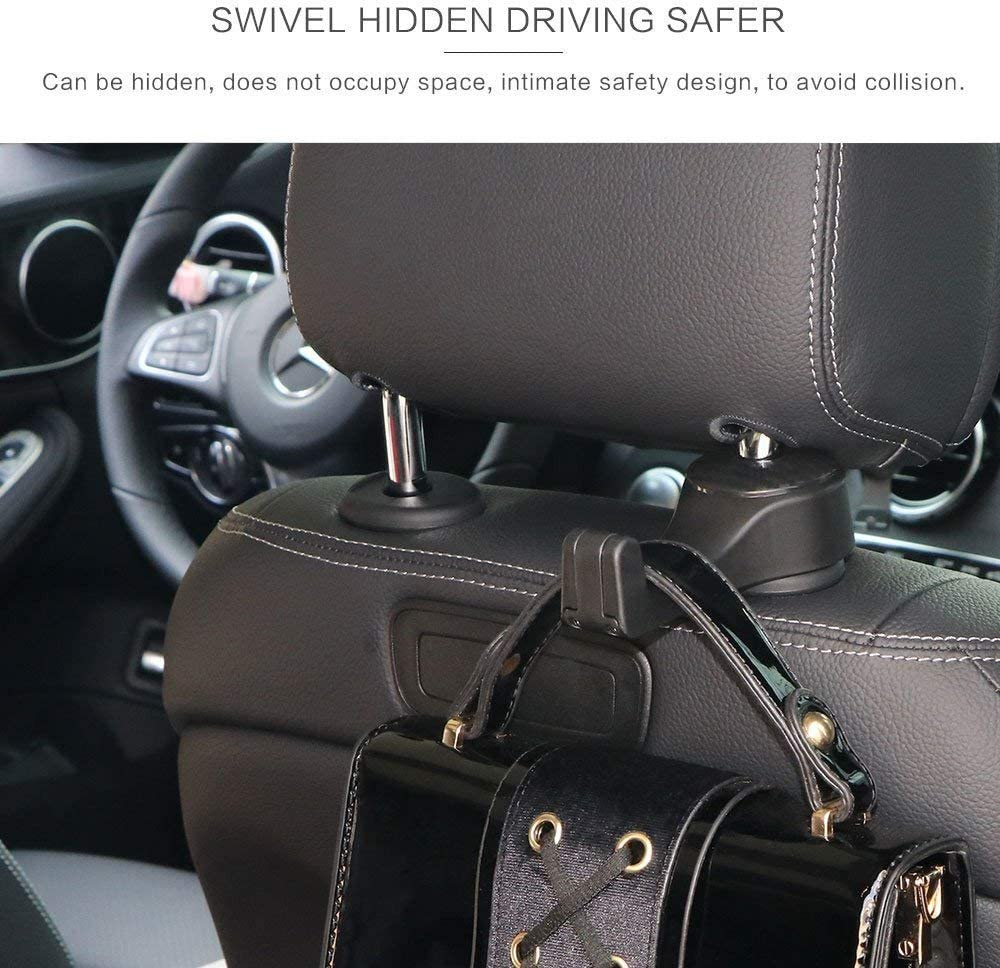 Purses ONEVER 2 Pack Car Seat Headrest Hooks Cell Phone Holder Mount by Strong and Durable Backseat Headrest Hanger Holder Hook Storage for Handbags etc 1E17523A152OPM9S4F1S5 Grocery Bags