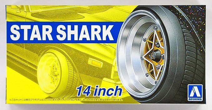 1:24 Scale Star SHARK WHEELS /& Pneu Set #222