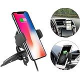 EEEKit Qi Standard Caricabatteria da Auto per Auto Supporto per Cellulare Porta CD per iPhone XS/iPhone XS Max/iPhone XR/iPhone X/iPhone 8 / 8Plus, Samsung Galaxy e dispositivi abilitati a Qi