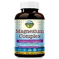 Terranics Magnesium Complex, Broad-Spectrum, 500mg, 120 Veggie Capsules, Chelated...